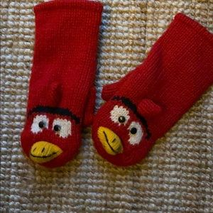 Angry Bird Mittens